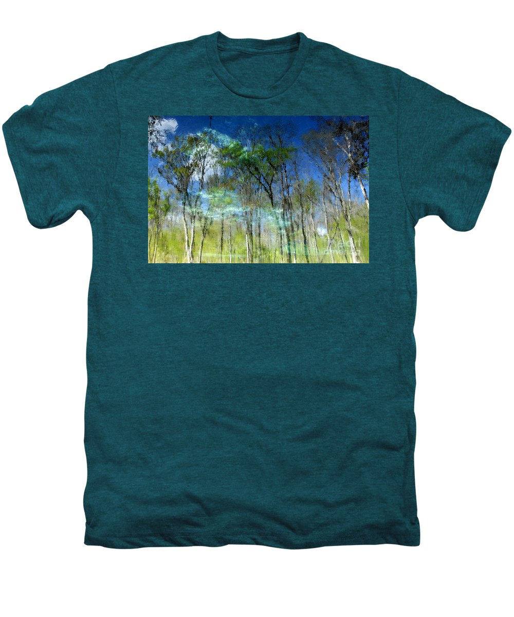 River Men's Premium T-Shirt featuring the photograph Ichetucknee Reflections by David Lee Thompson