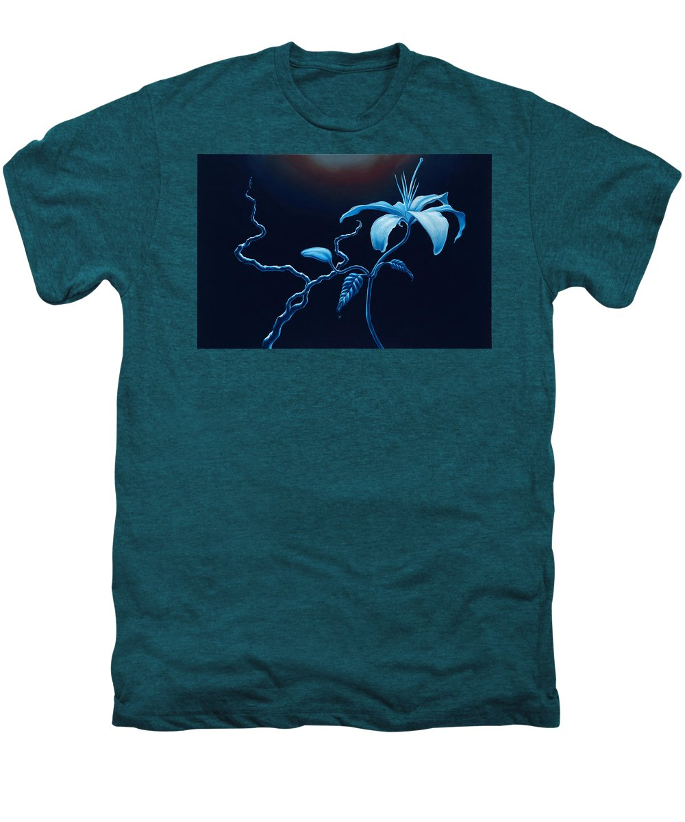 Lily Flower Men's Premium T-Shirt featuring the painting In Memorial by Jennifer McDuffie