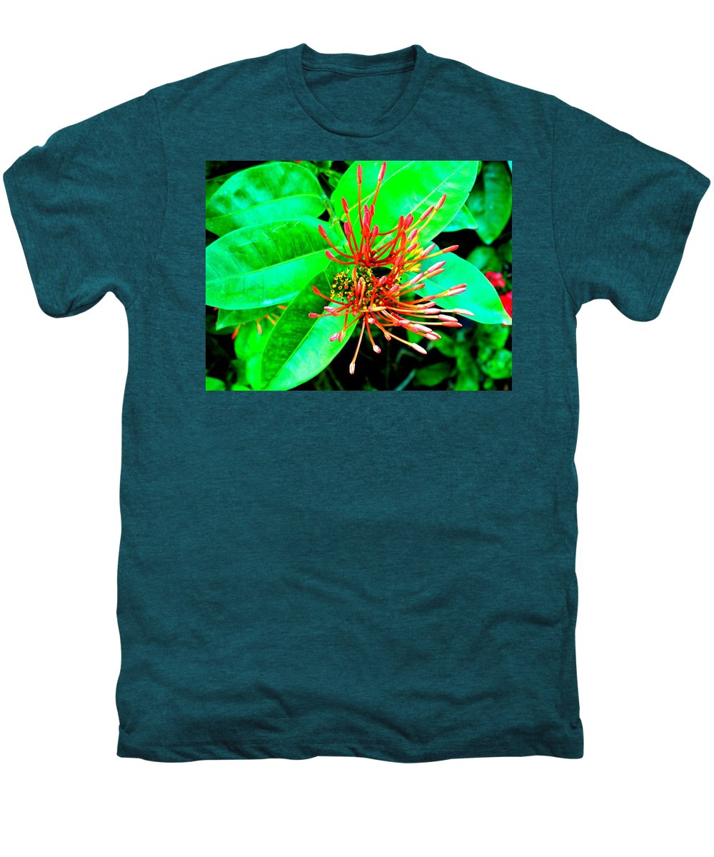 Flower Men's Premium T-Shirt featuring the photograph In My Garden by Ian MacDonald