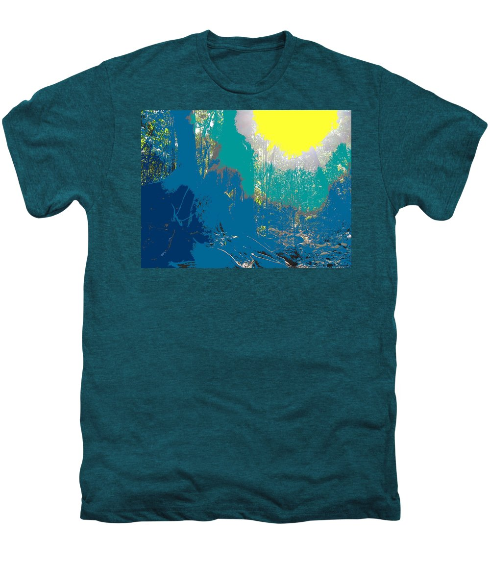 Rainforest Men's Premium T-Shirt featuring the photograph In The Rainforest by Ian MacDonald