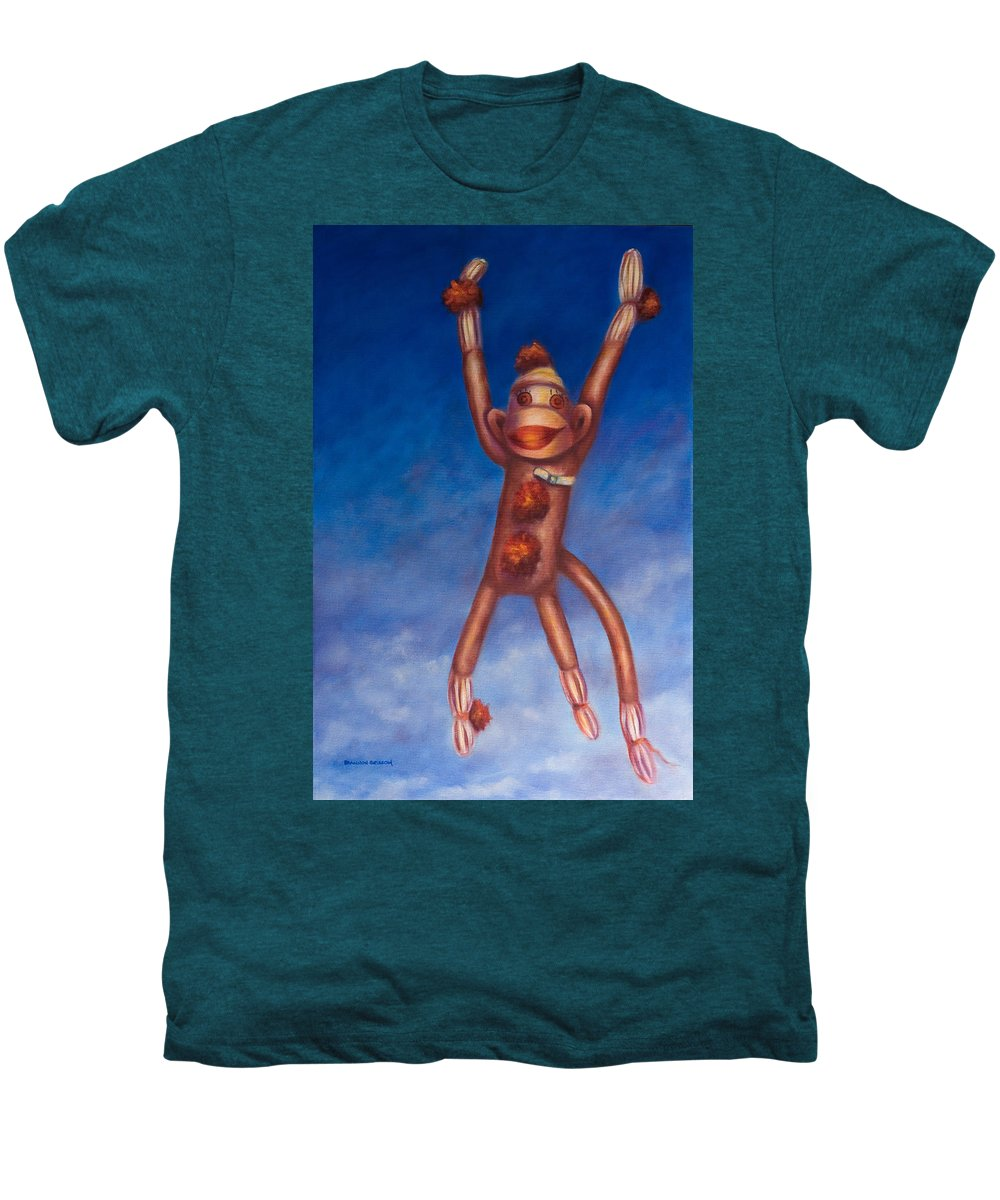 Children Men's Premium T-Shirt featuring the painting Jump For Joy by Shannon Grissom