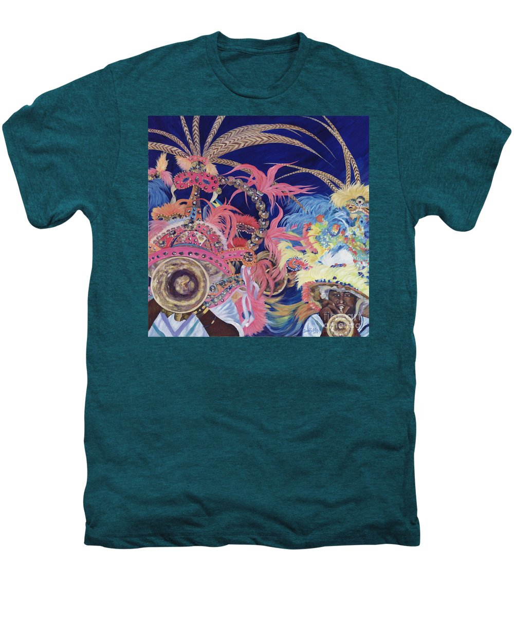 Bahamas Men's Premium T-Shirt featuring the painting Junkanoo by Danielle Perry