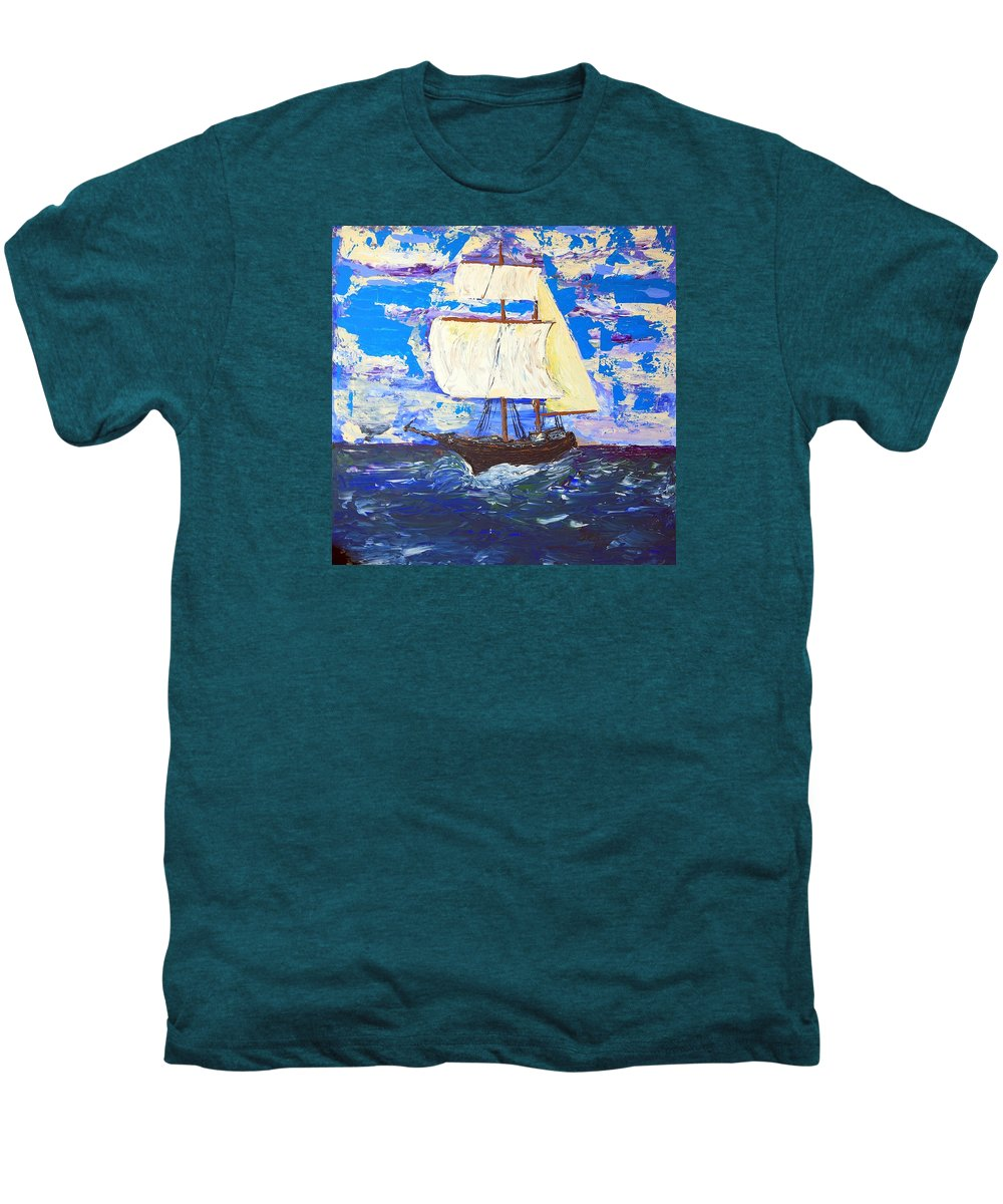 Clipper Men's Premium T-Shirt featuring the painting Little Clipper by J R Seymour