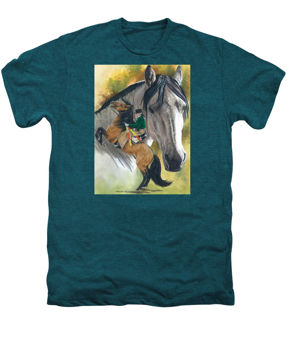 Horses Men's Premium T-Shirt featuring the mixed media Lusitano by Barbara Keith