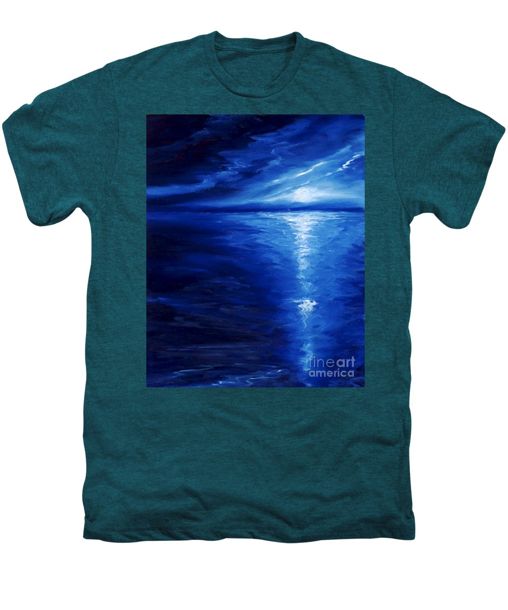 Blue Moon Men's Premium T-Shirt featuring the painting Magical Moonlight by James Christopher Hill