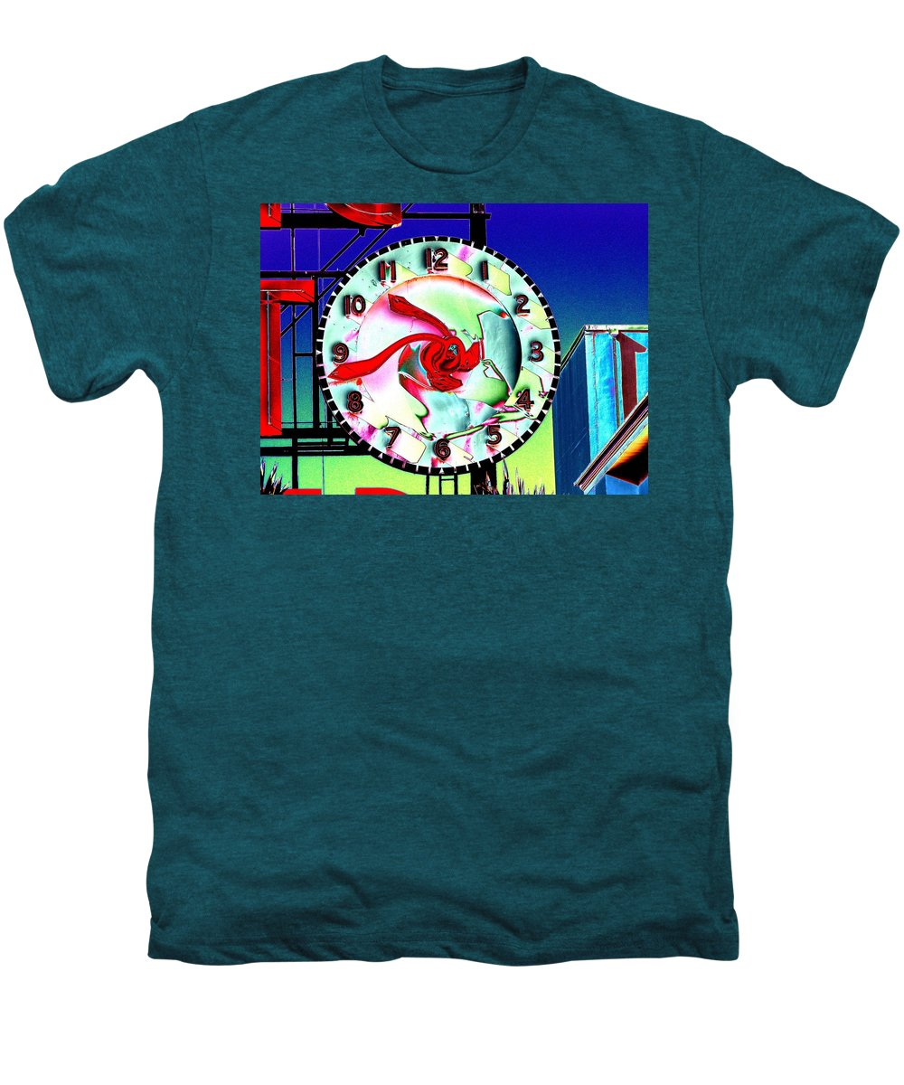 Seattle Men's Premium T-Shirt featuring the photograph Market Clock 2 by Tim Allen