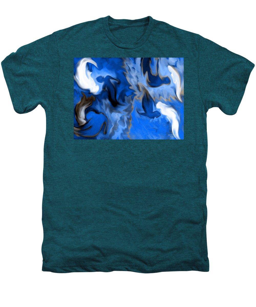 Mermaids Men's Premium T-Shirt featuring the digital art Mermaids by Shelley Jones