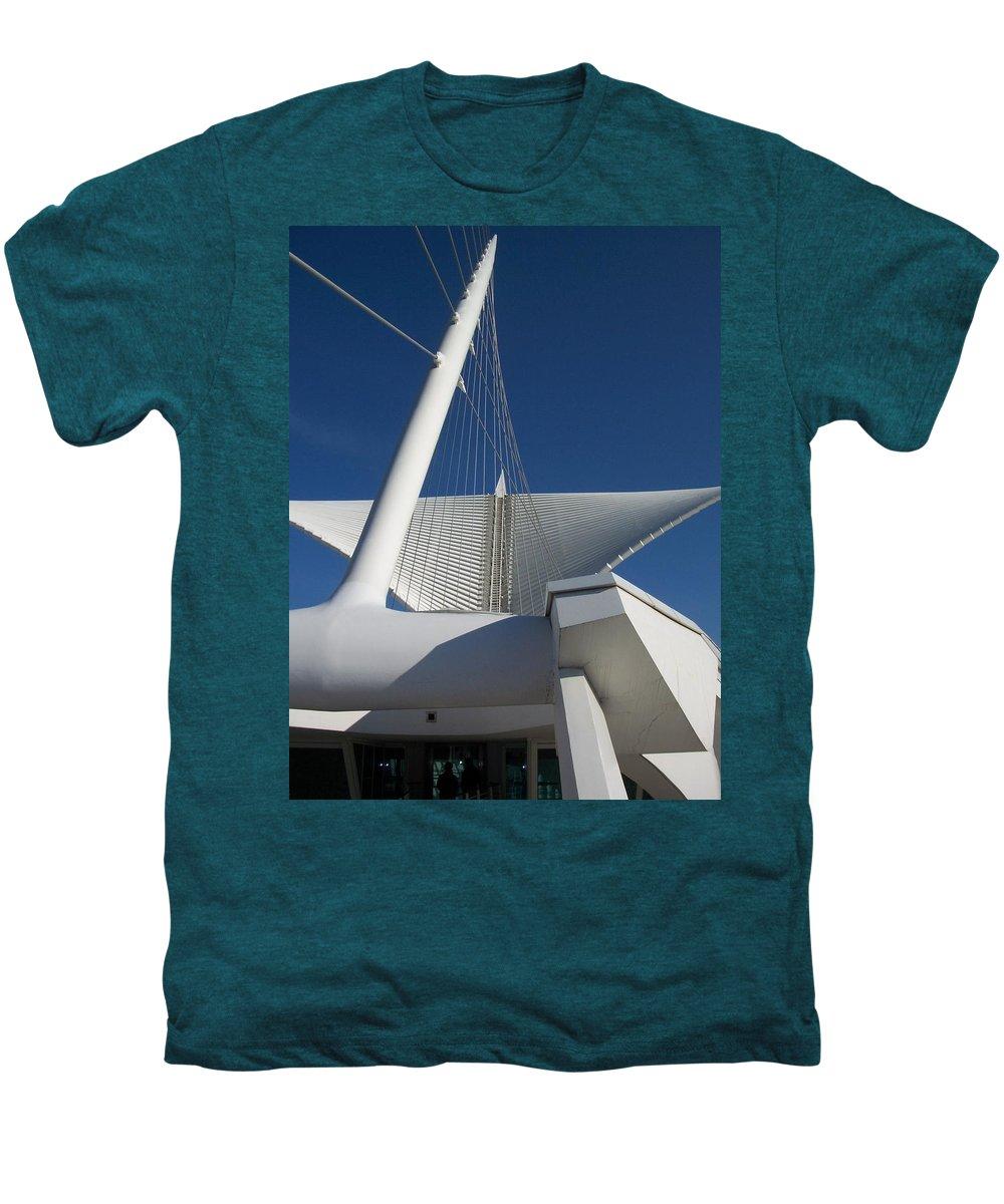 Mam Men's Premium T-Shirt featuring the photograph Milwaukee Art Museum Cropped by Anita Burgermeister
