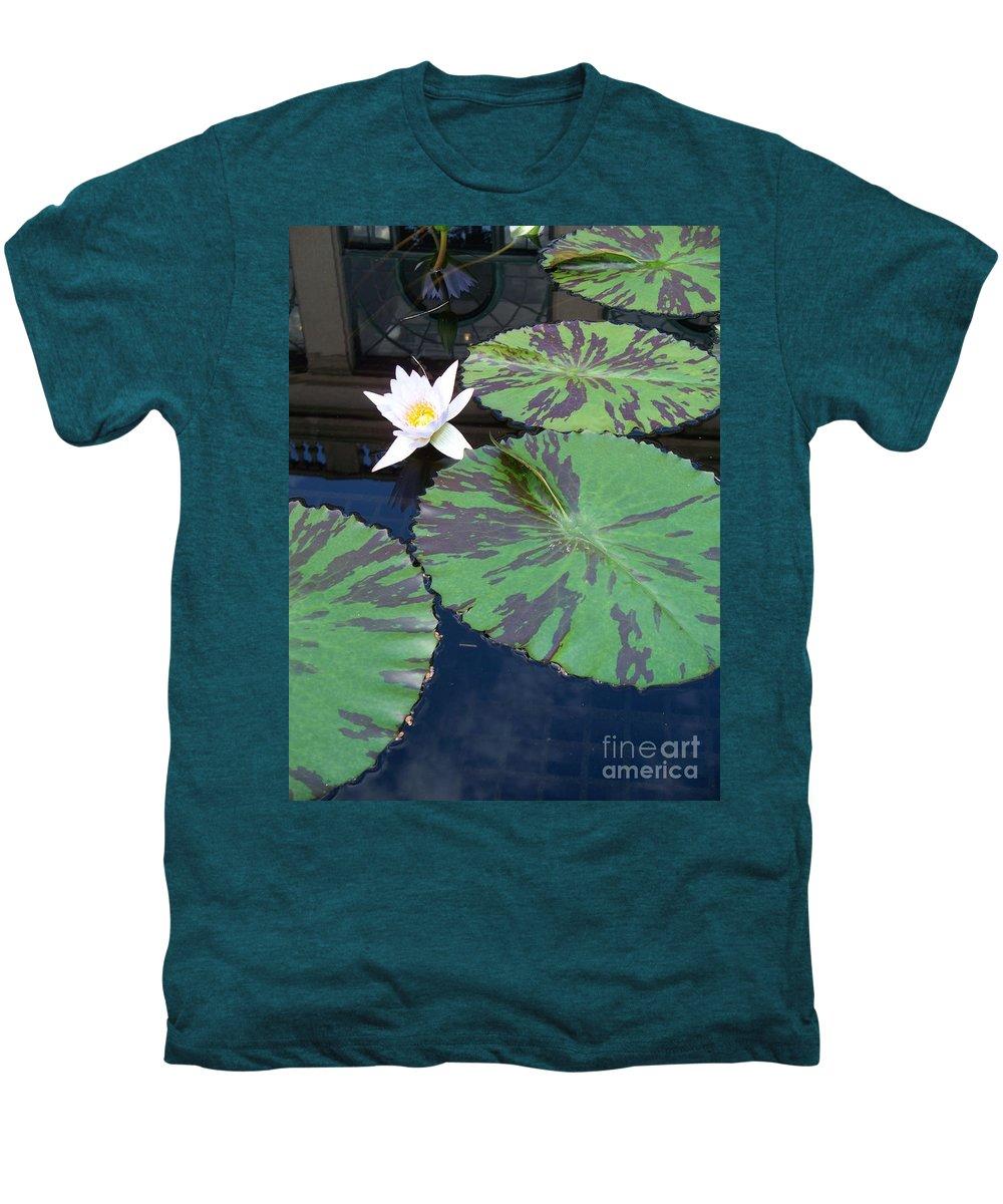 Photograph Men's Premium T-Shirt featuring the photograph Monet Lilies White by Eric Schiabor