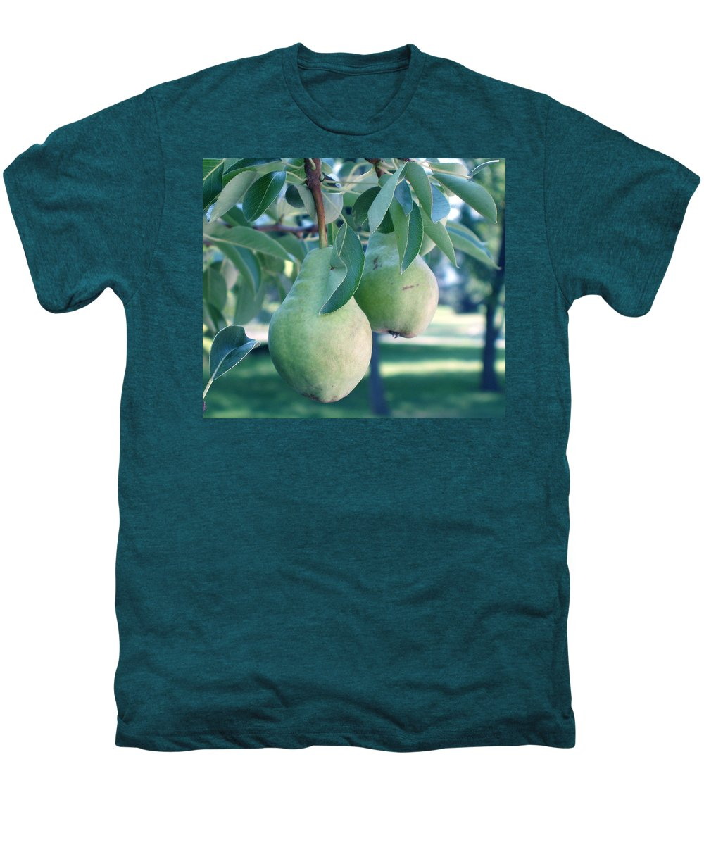 Pears Men's Premium T-Shirt featuring the painting My Brothers Pear Tree by Wayne Potrafka