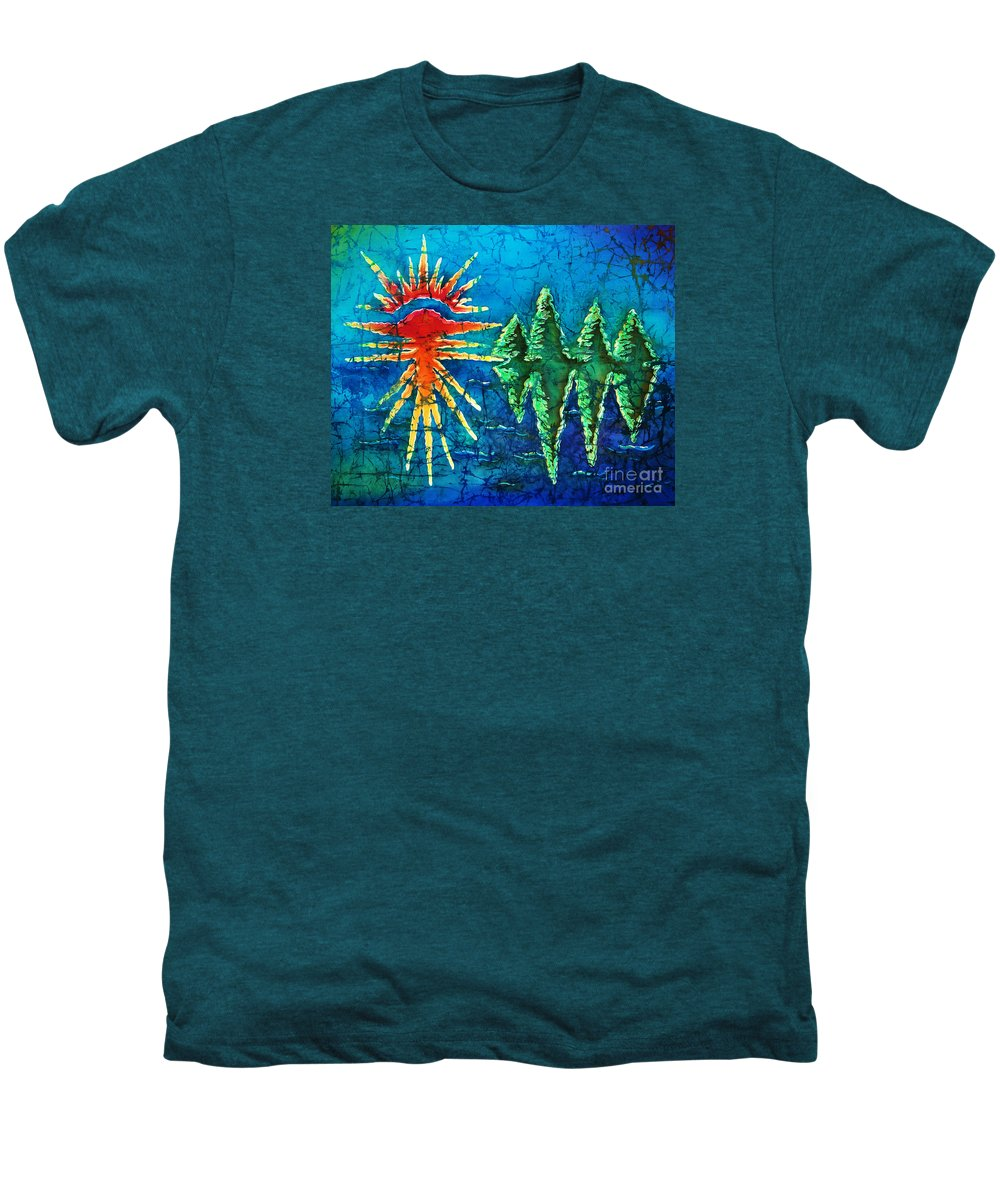 Trees Men's Premium T-Shirt featuring the painting Nature by Sue Duda