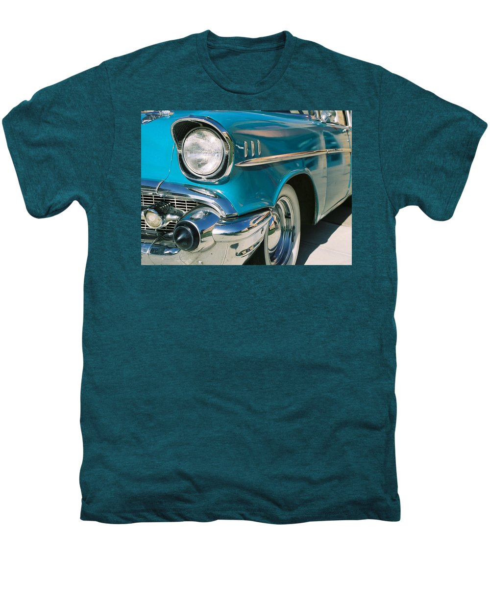 Chevy Men's Premium T-Shirt featuring the photograph Old Chevy by Steve Karol