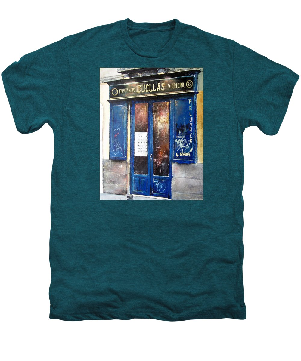 Old Men's Premium T-Shirt featuring the painting Old Plumbing-madrid by Tomas Castano