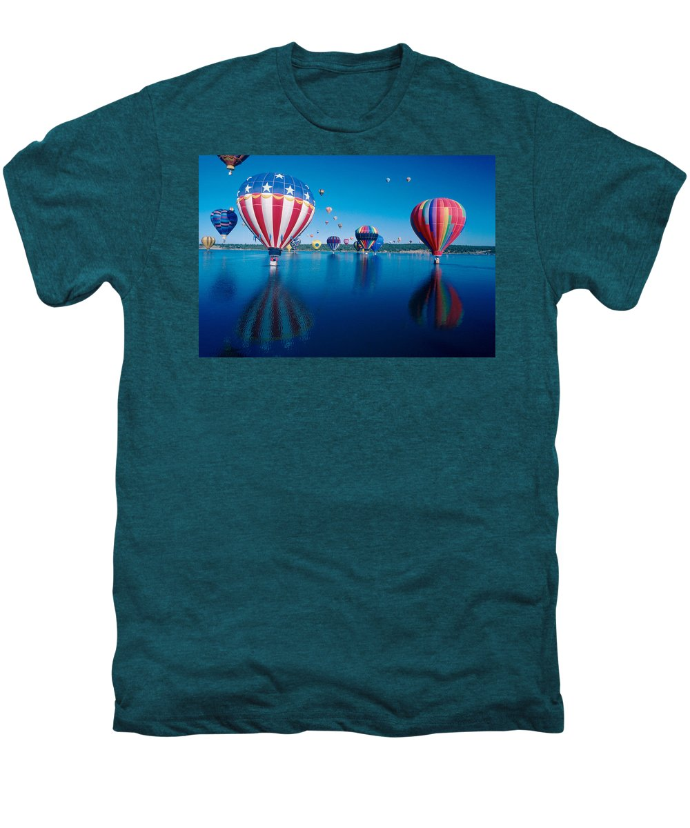 Hot Air Balloons Men's Premium T-Shirt featuring the photograph Patriotic Hot Air Balloon by Jerry McElroy
