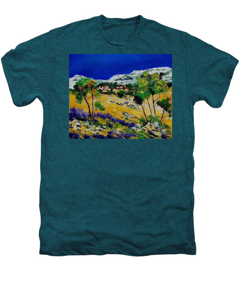 Provence Men's Premium T-Shirt featuring the painting Provence 569060 by Pol Ledent