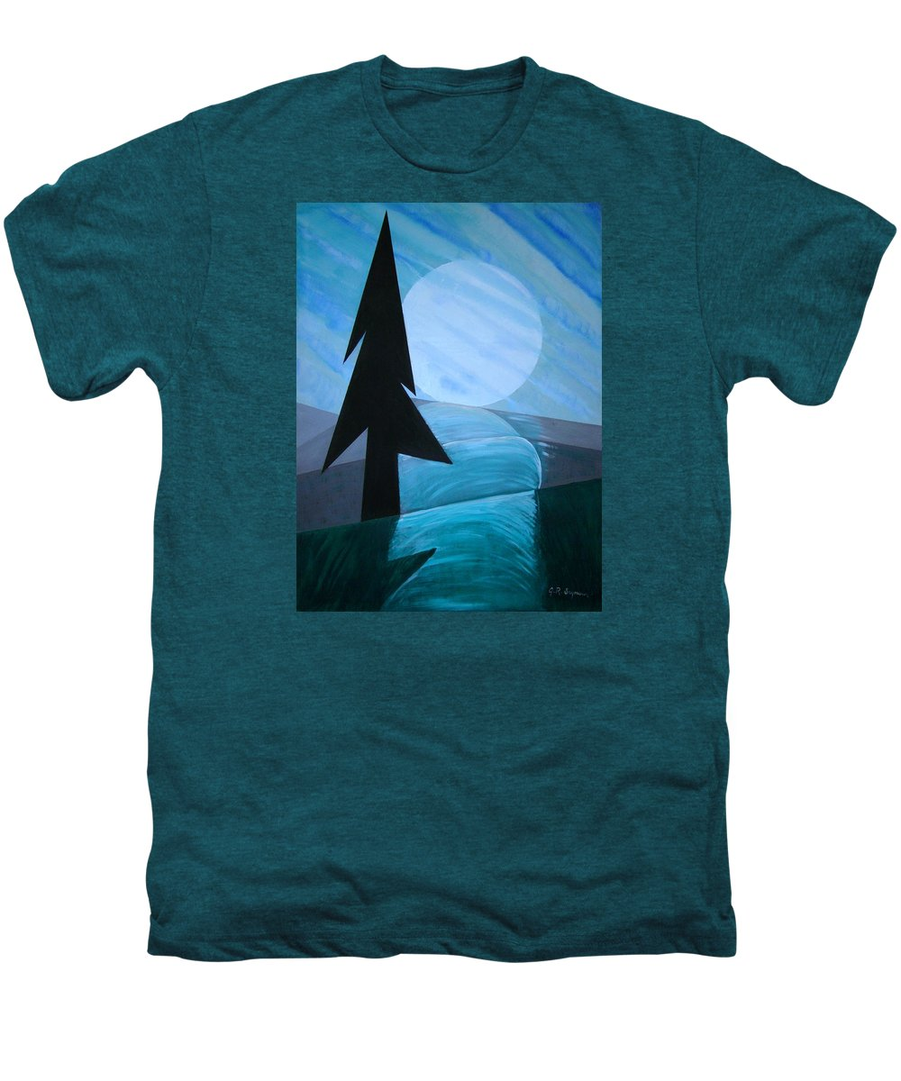 Phases Of The Moon Men's Premium T-Shirt featuring the painting Reflections On The Day by J R Seymour