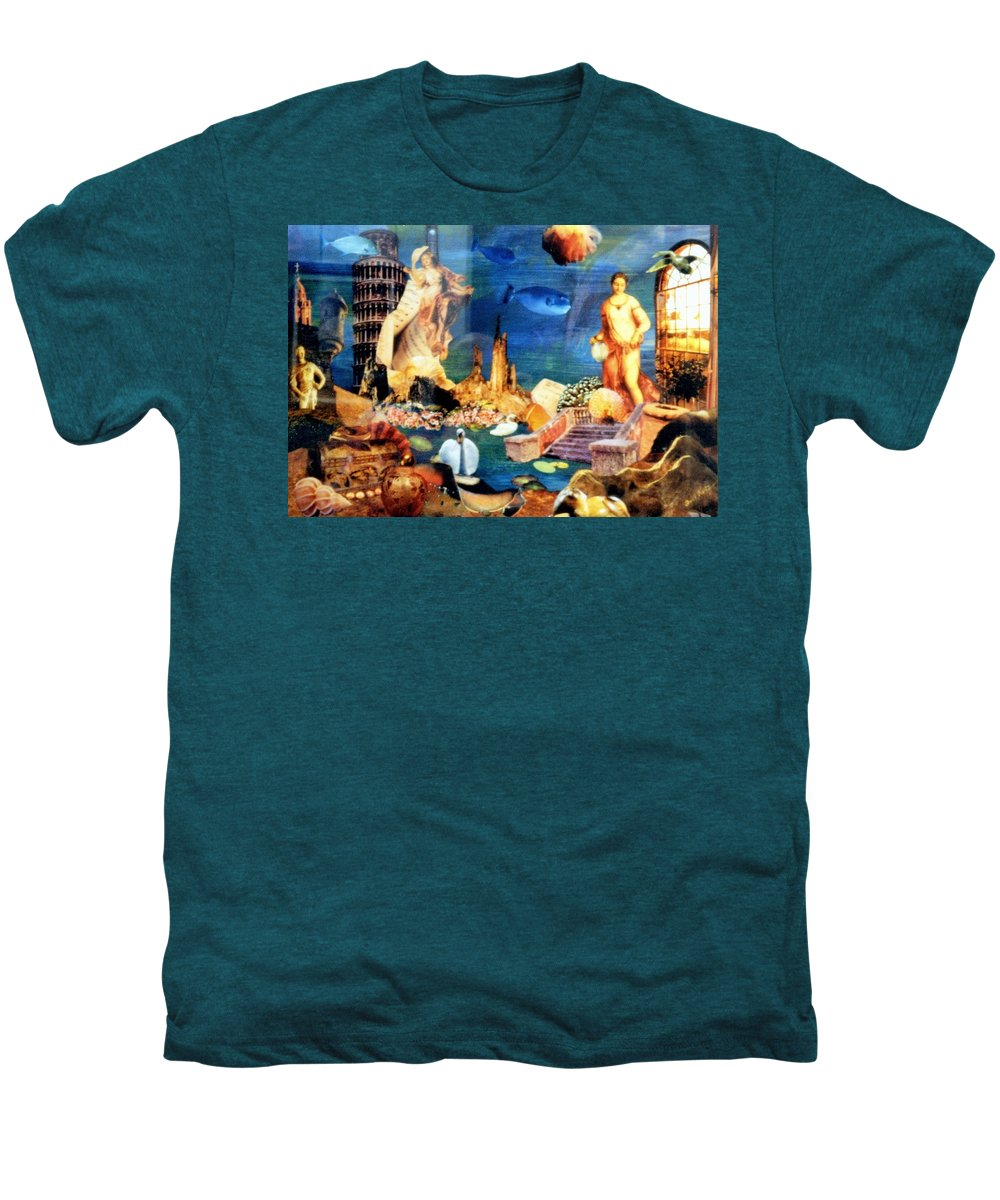 Fantasy Men's Premium T-Shirt featuring the painting Sea Garden by Gail Kirtz