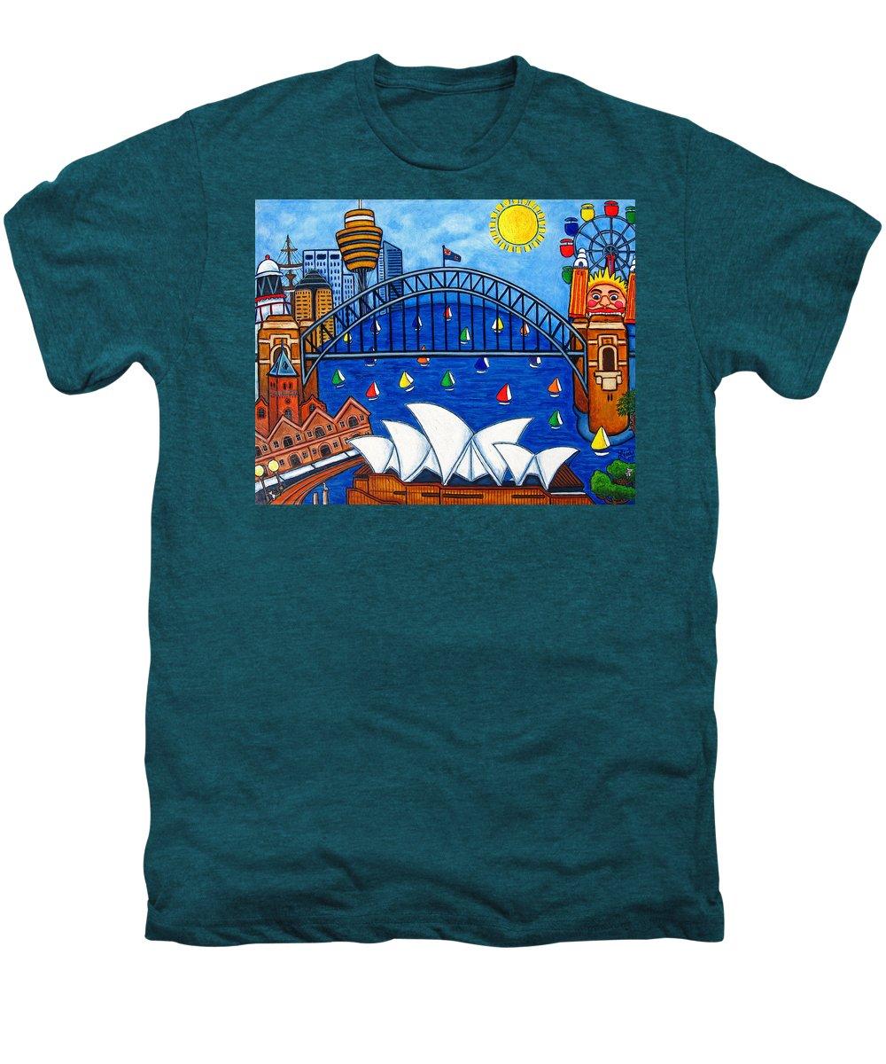 House Men's Premium T-Shirt featuring the painting Sensational Sydney by Lisa Lorenz