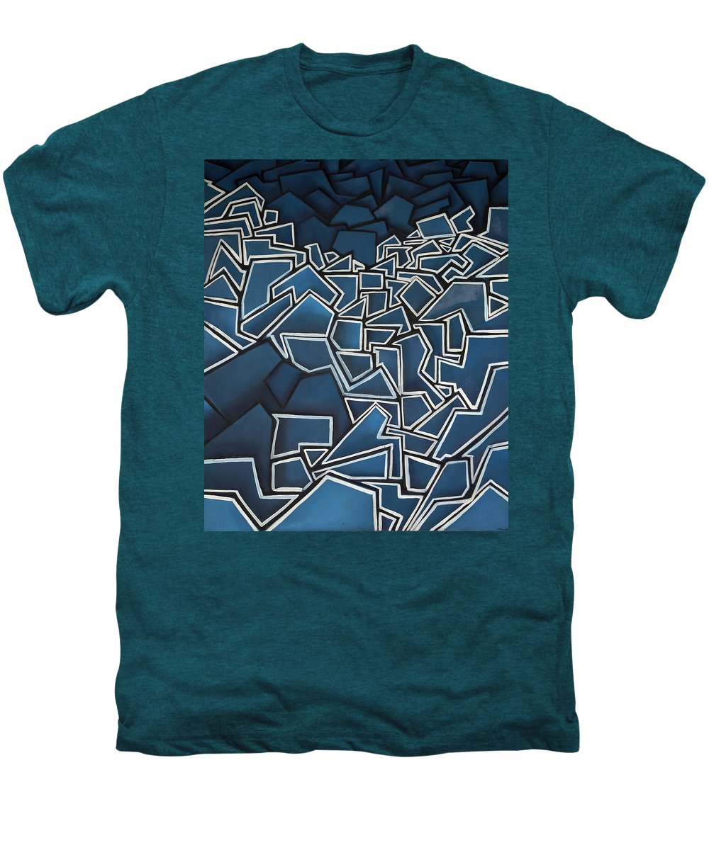 Abstract Men's Premium T-Shirt featuring the painting Shadderd Space by Thomas Valentine