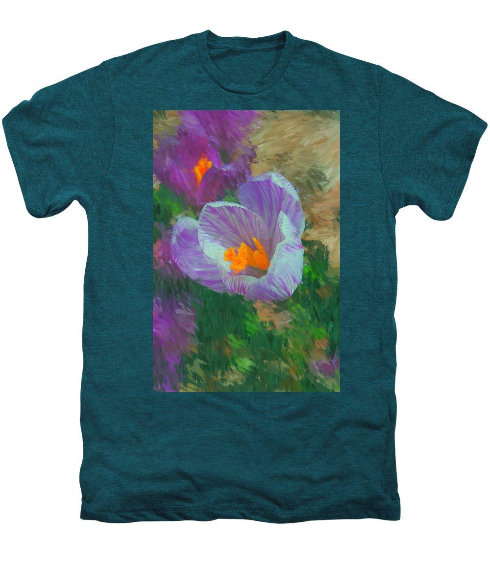 Digital Photography Men's Premium T-Shirt featuring the digital art Spring Has Sprung by David Lane