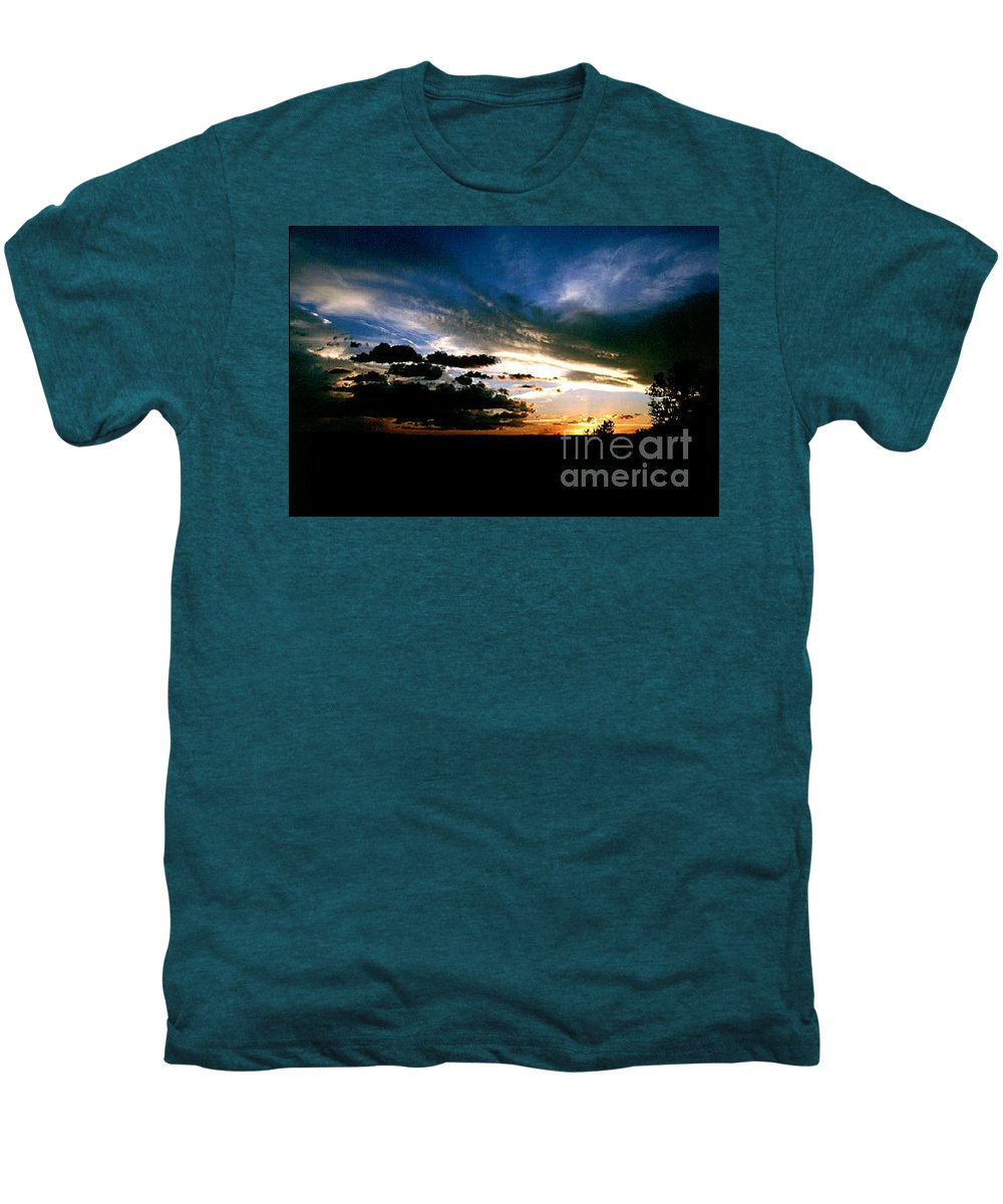 Sunset Men's Premium T-Shirt featuring the photograph Sunset At The North Rim by Kathy McClure
