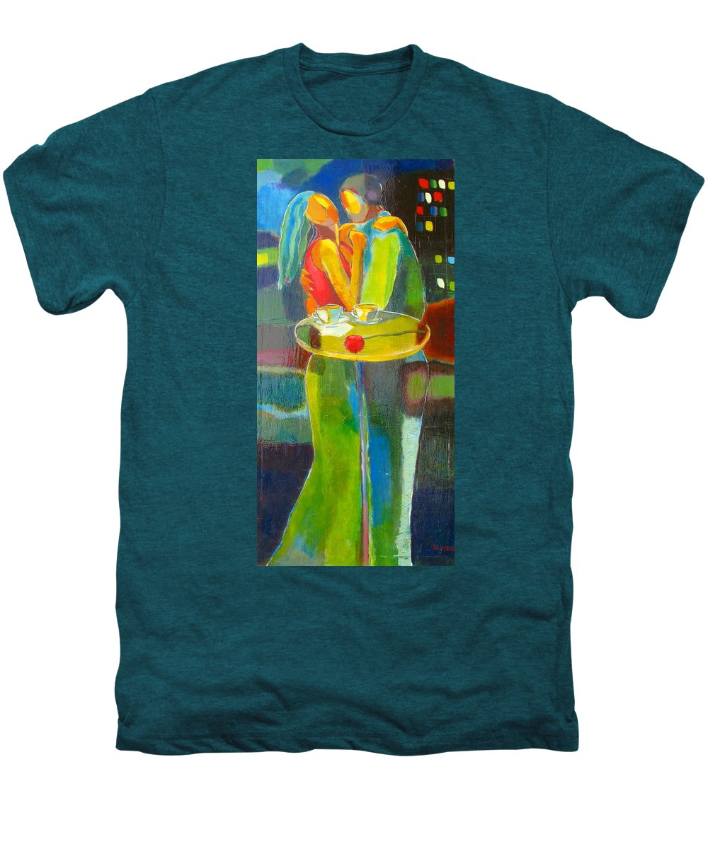 Love Men's Premium T-Shirt featuring the painting Sweet Moment by Habib Ayat