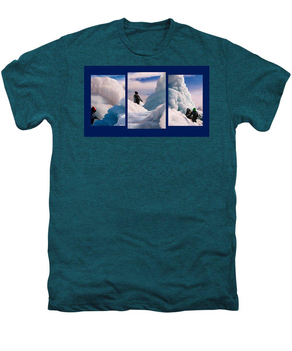 Landscape Men's Premium T-Shirt featuring the photograph The Explorers by Steve Karol