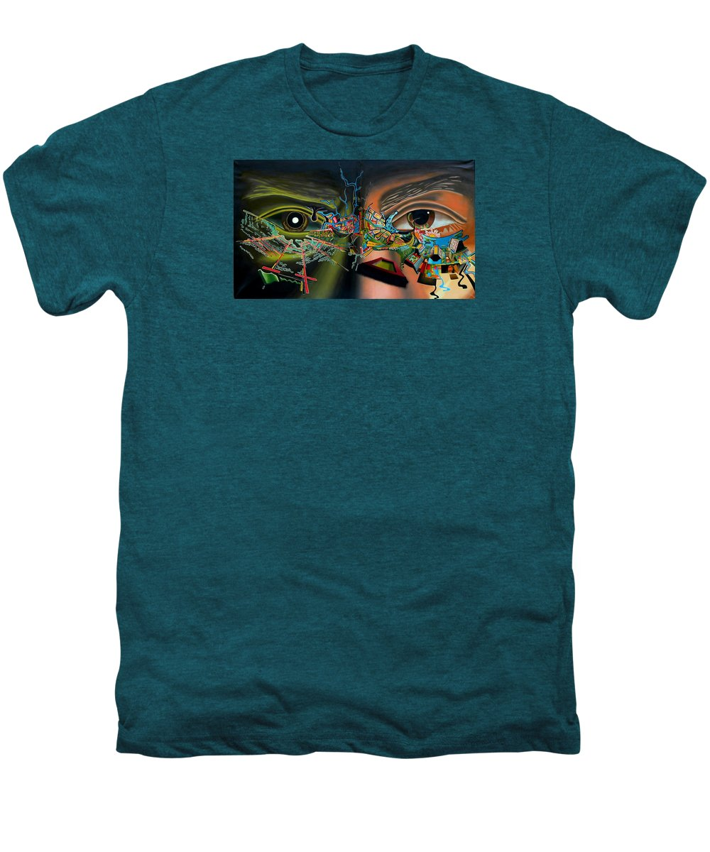 Surreal Men's Premium T-Shirt featuring the painting The Surreal Bridge by Dave Martsolf