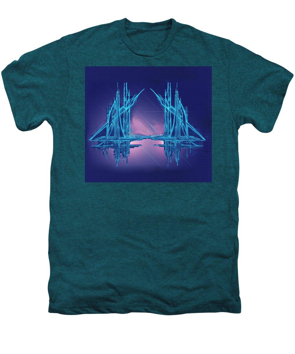 Abstract Men's Premium T-Shirt featuring the digital art Threshold by Don Quackenbush
