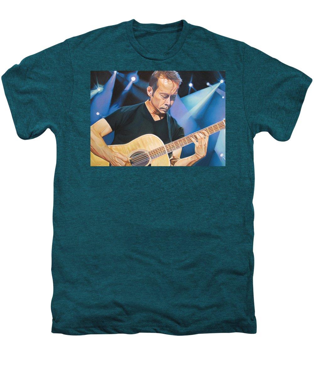 Tim Reynolds Men's Premium T-Shirt featuring the drawing Tim Reynolds And Lights by Joshua Morton