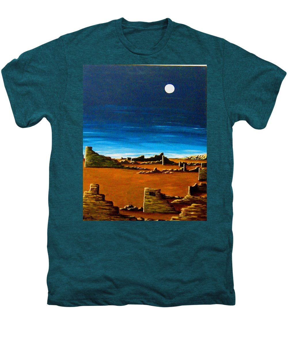 Anasazi Men's Premium T-Shirt featuring the painting Timeless by Diana Dearen