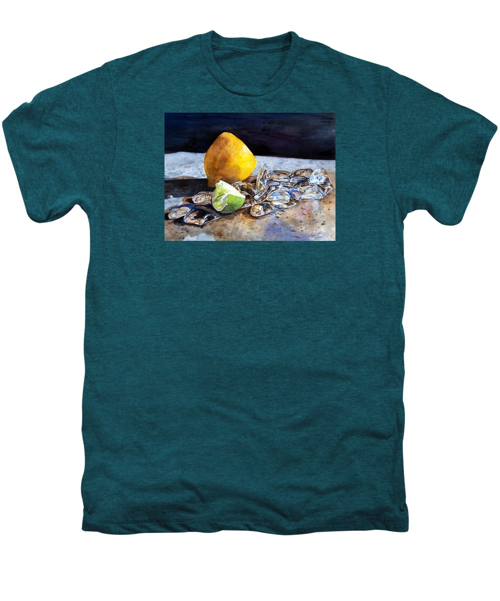 Lemon Men's Premium T-Shirt featuring the painting Was... by Leyla Munteanu
