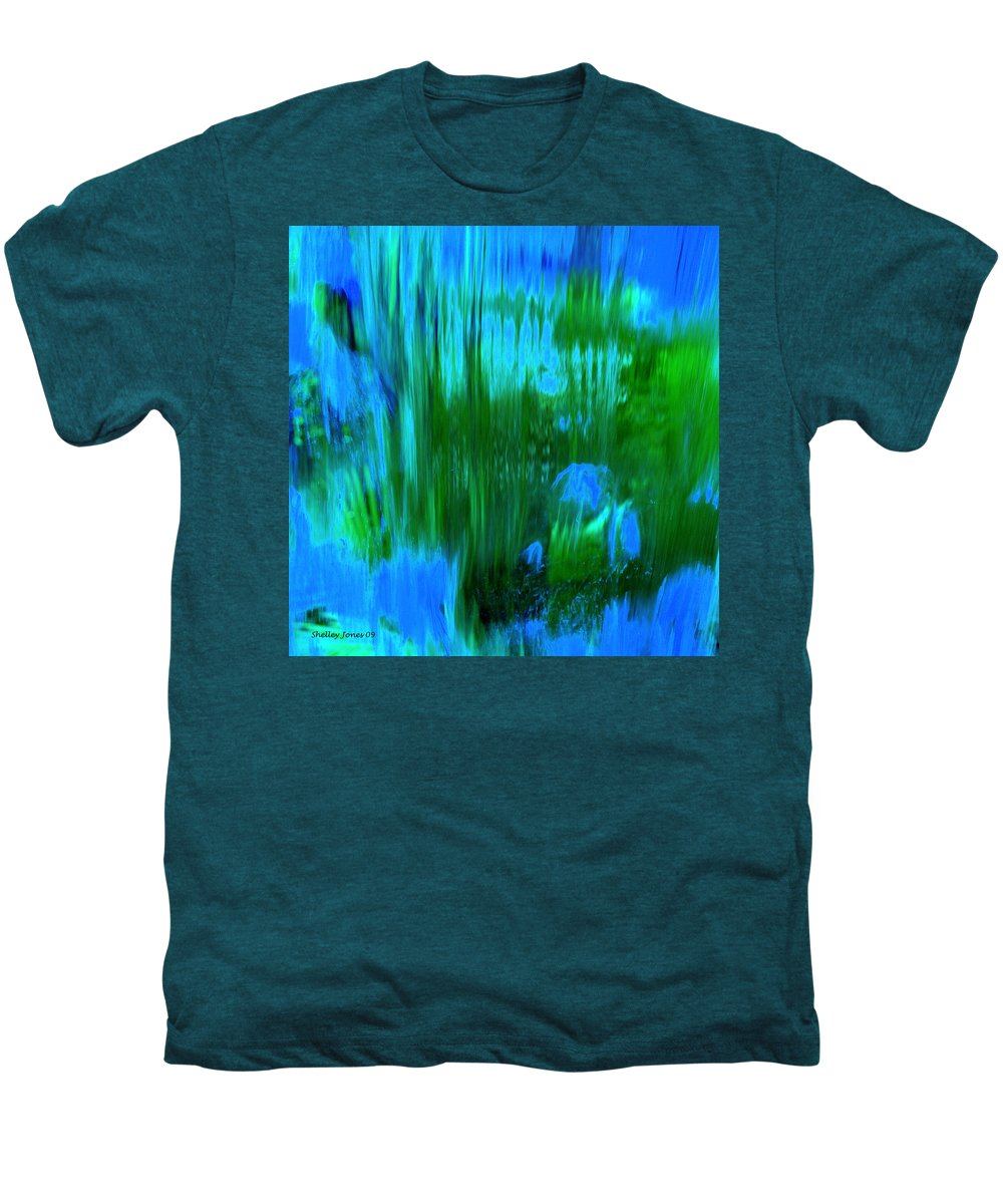 Digital Art Men's Premium T-Shirt featuring the digital art Waterfall by Shelley Jones