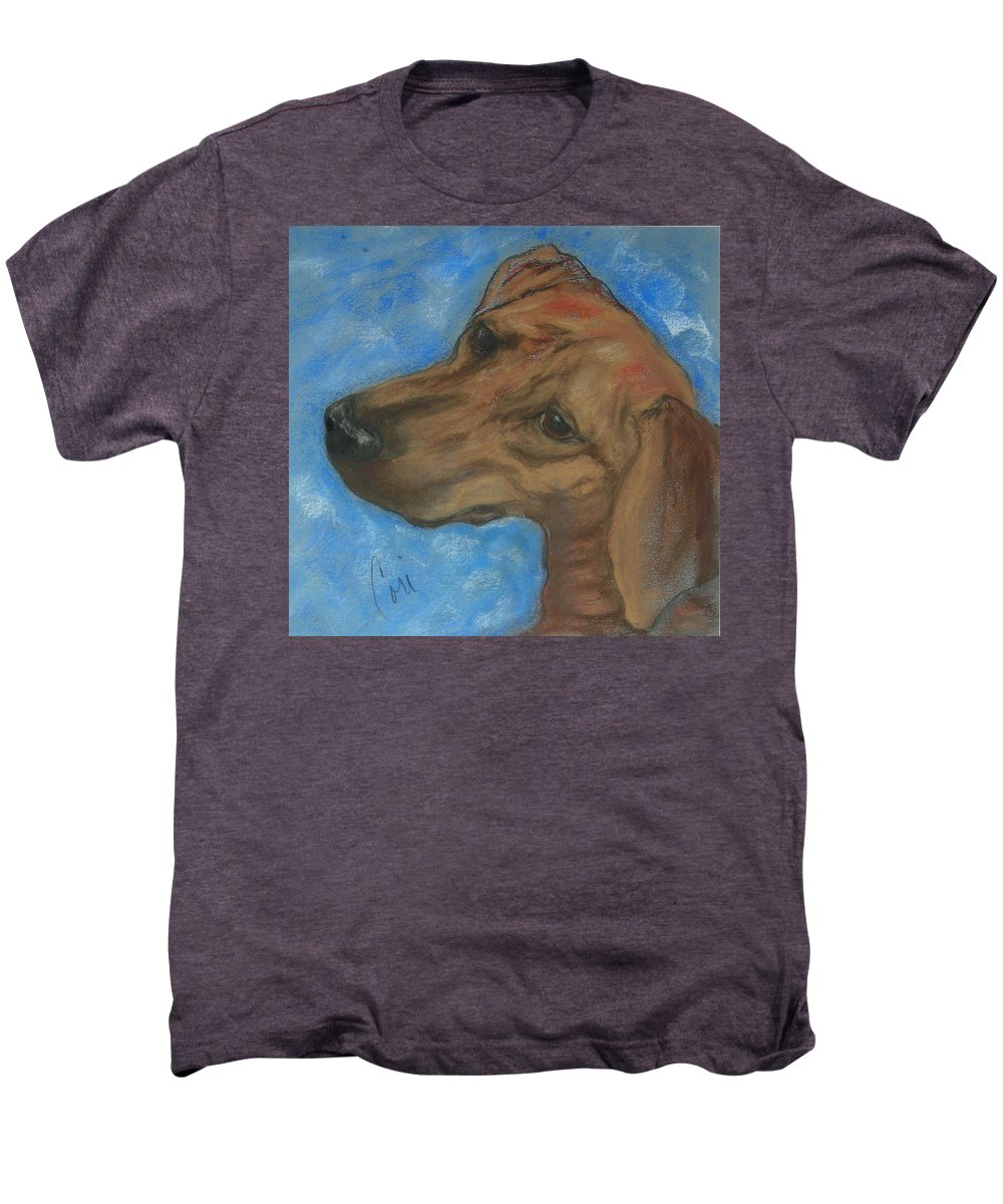 Pastel Men's Premium T-Shirt featuring the drawing A Twist Of Might by Cori Solomon