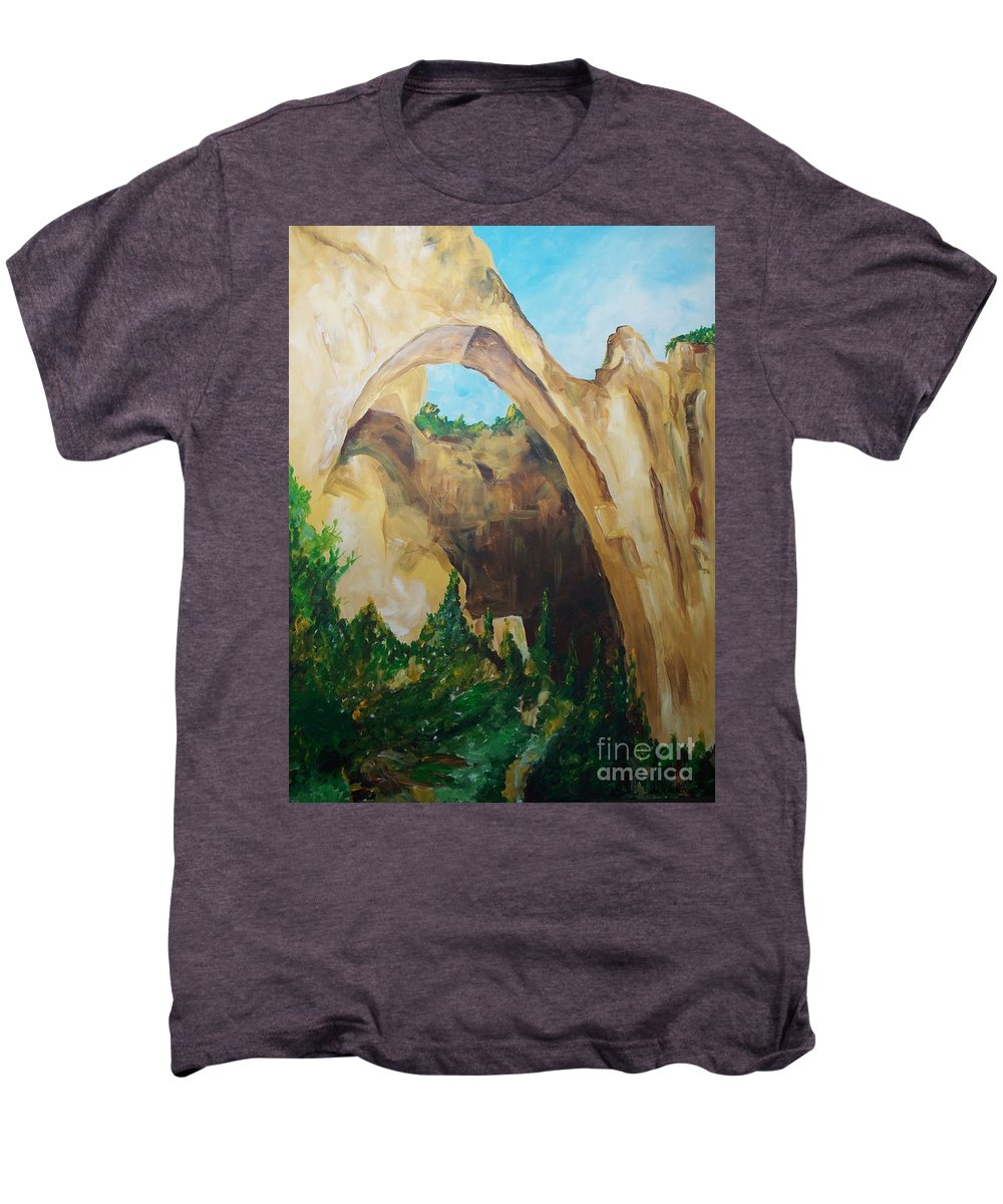 Floral Men's Premium T-Shirt featuring the painting Arch by Eric Schiabor
