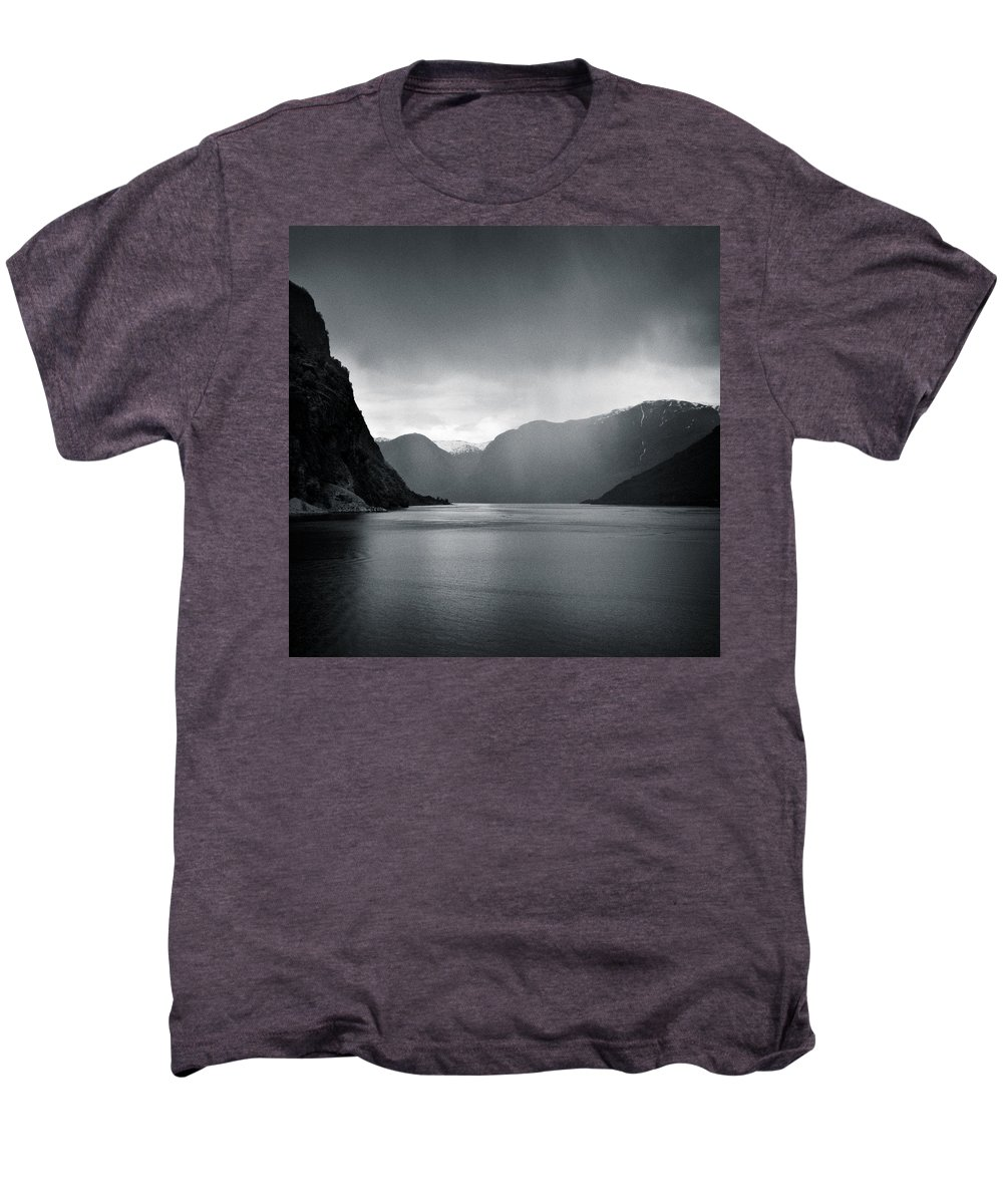 Norway Men's Premium T-Shirt featuring the photograph Fjord Rain by Dave Bowman
