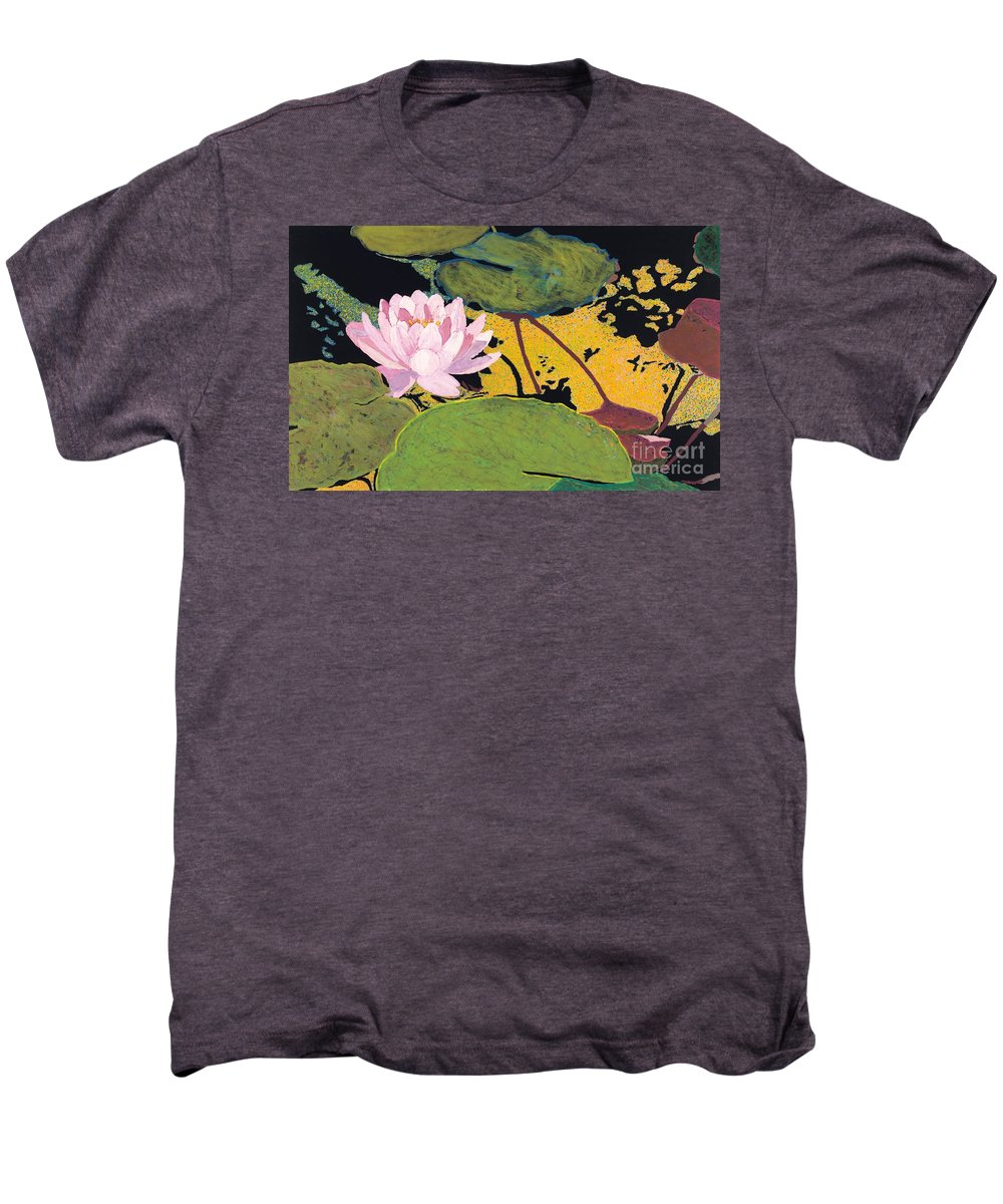 Landscape Men's Premium T-Shirt featuring the painting Georgia Summer by Allan P Friedlander