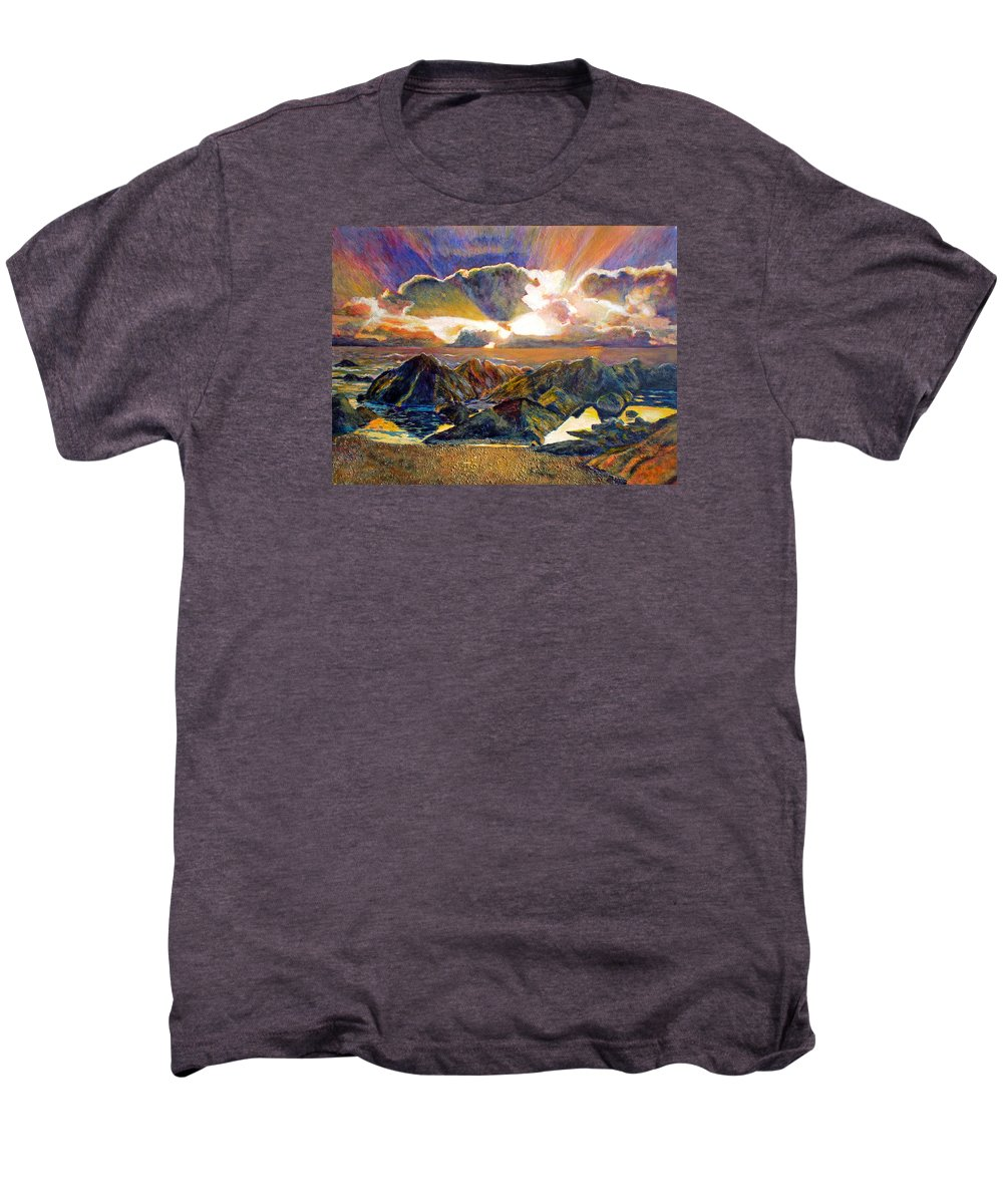Seascape Men's Premium T-Shirt featuring the painting God Speaking by Michael Durst