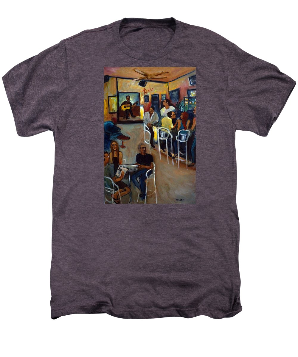 Art Bar Men's Premium T-Shirt featuring the painting Kevro's Art Bar by Valerie Vescovi