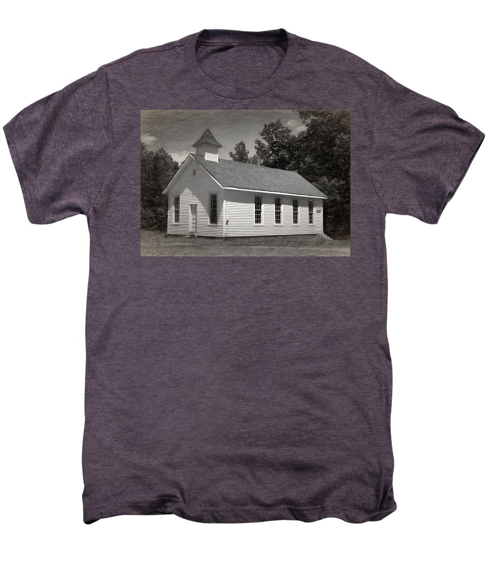 Abandoned Men's Premium T-Shirt featuring the photograph Meeting House by Richard Rizzo