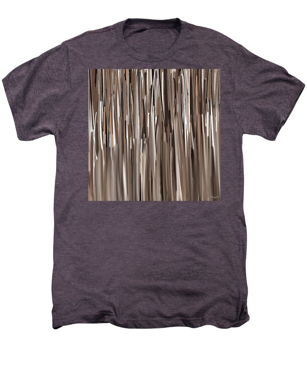 Brown Men's Premium T-Shirt featuring the painting Naturally Brown by Lourry Legarde
