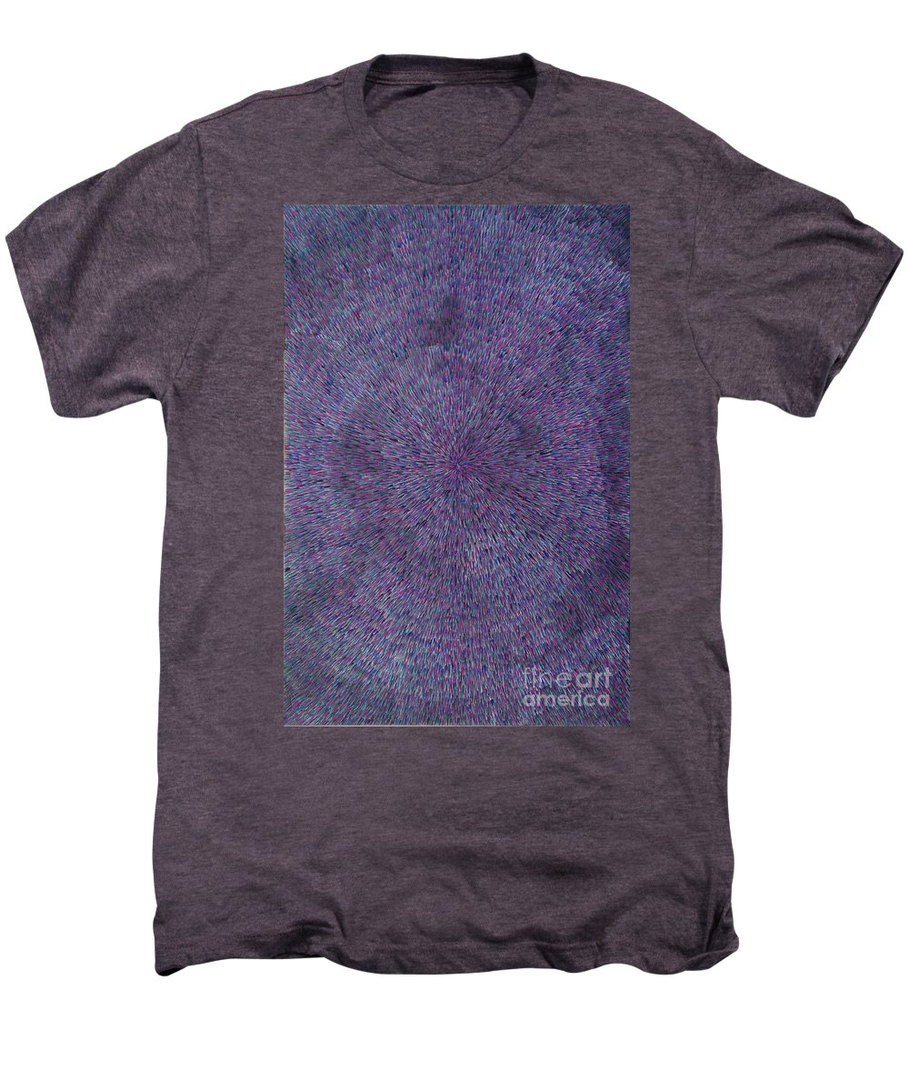 Abstract Men's Premium T-Shirt featuring the painting Radiation Violet by Dean Triolo