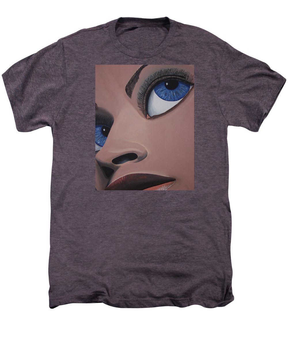 Eye Catching Men's Premium T-Shirt featuring the painting SHE by Dean Stephens