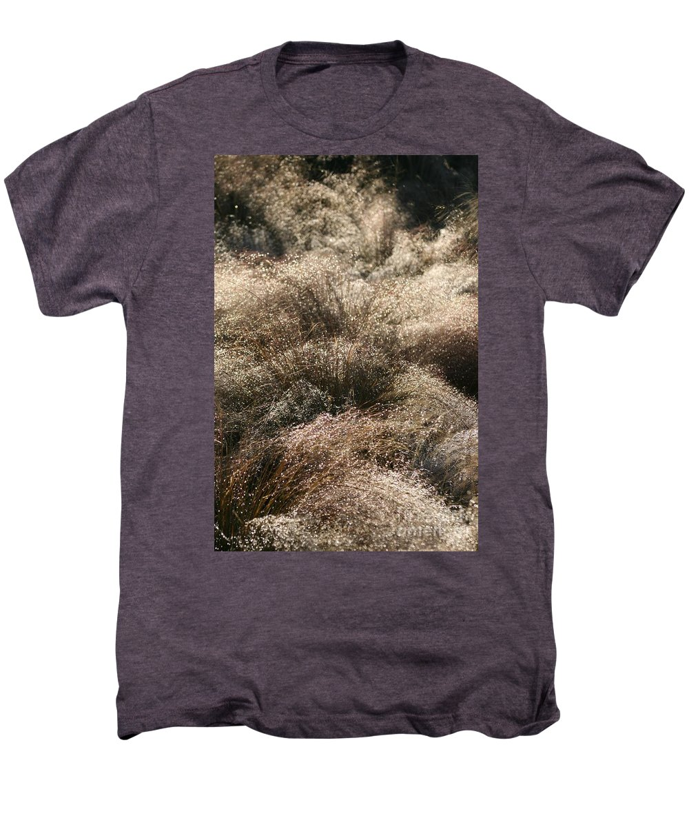 Grasses Men's Premium T-Shirt featuring the photograph Sparkling Grasses by Nadine Rippelmeyer