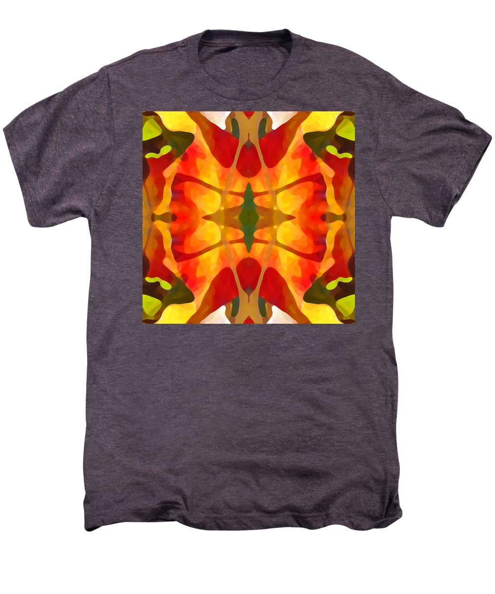 Abstract Men's Premium T-Shirt featuring the painting Tropical Leaf Pattern5 by Amy Vangsgard