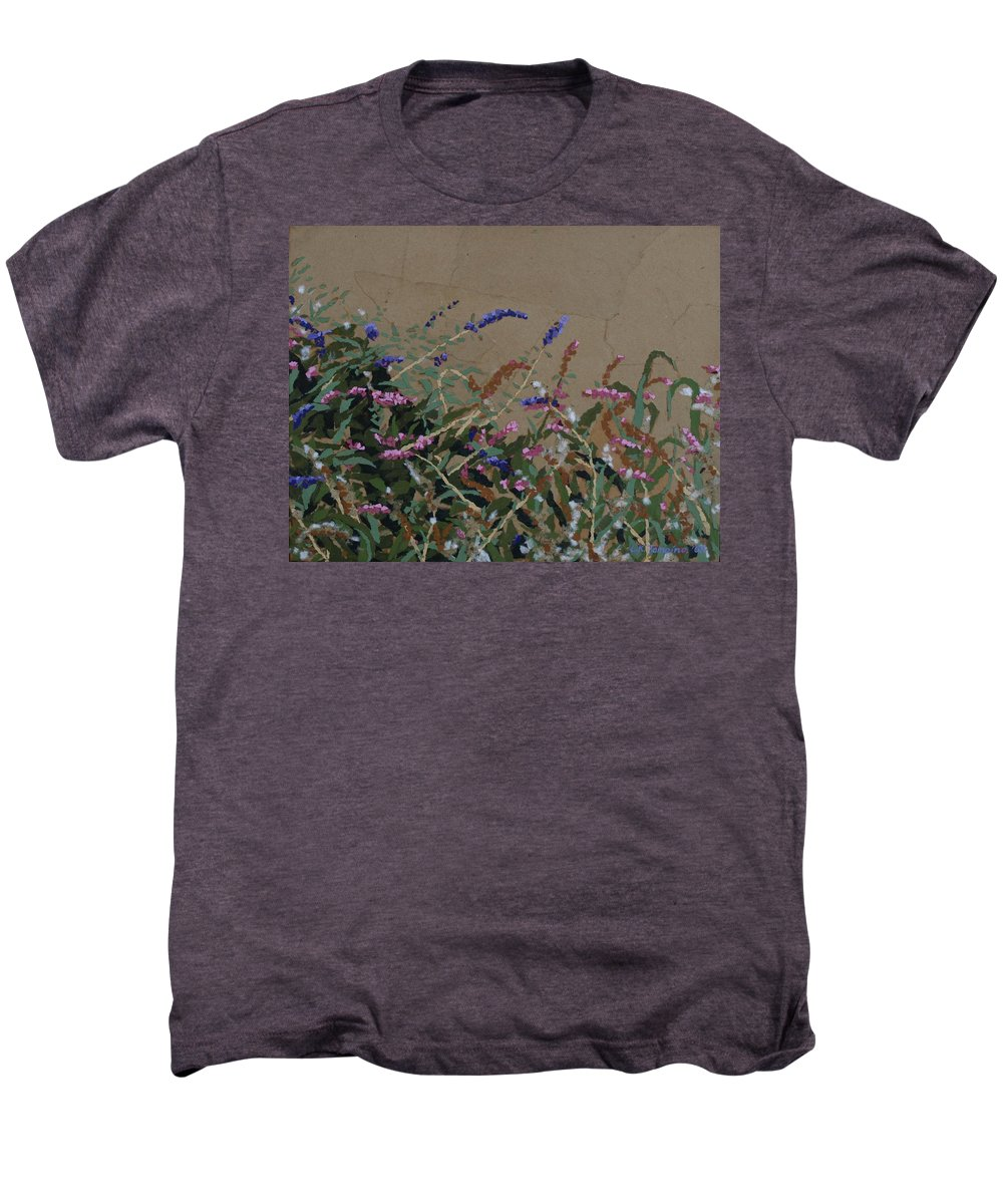 Flowering Butterfly Bush Men's Premium T-Shirt featuring the painting Tyler by Leah Tomaino