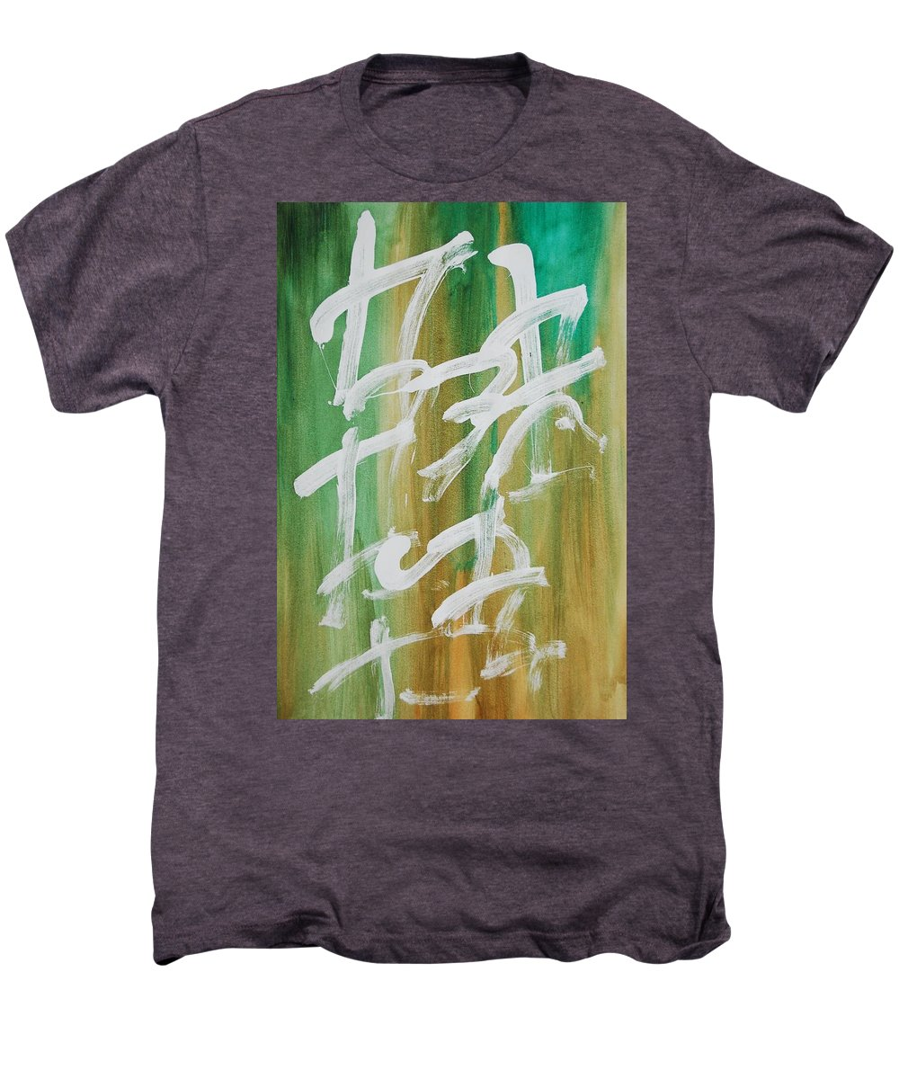 Chinese Men's Premium T-Shirt featuring the painting Chinese Numbers by Lauren Luna
