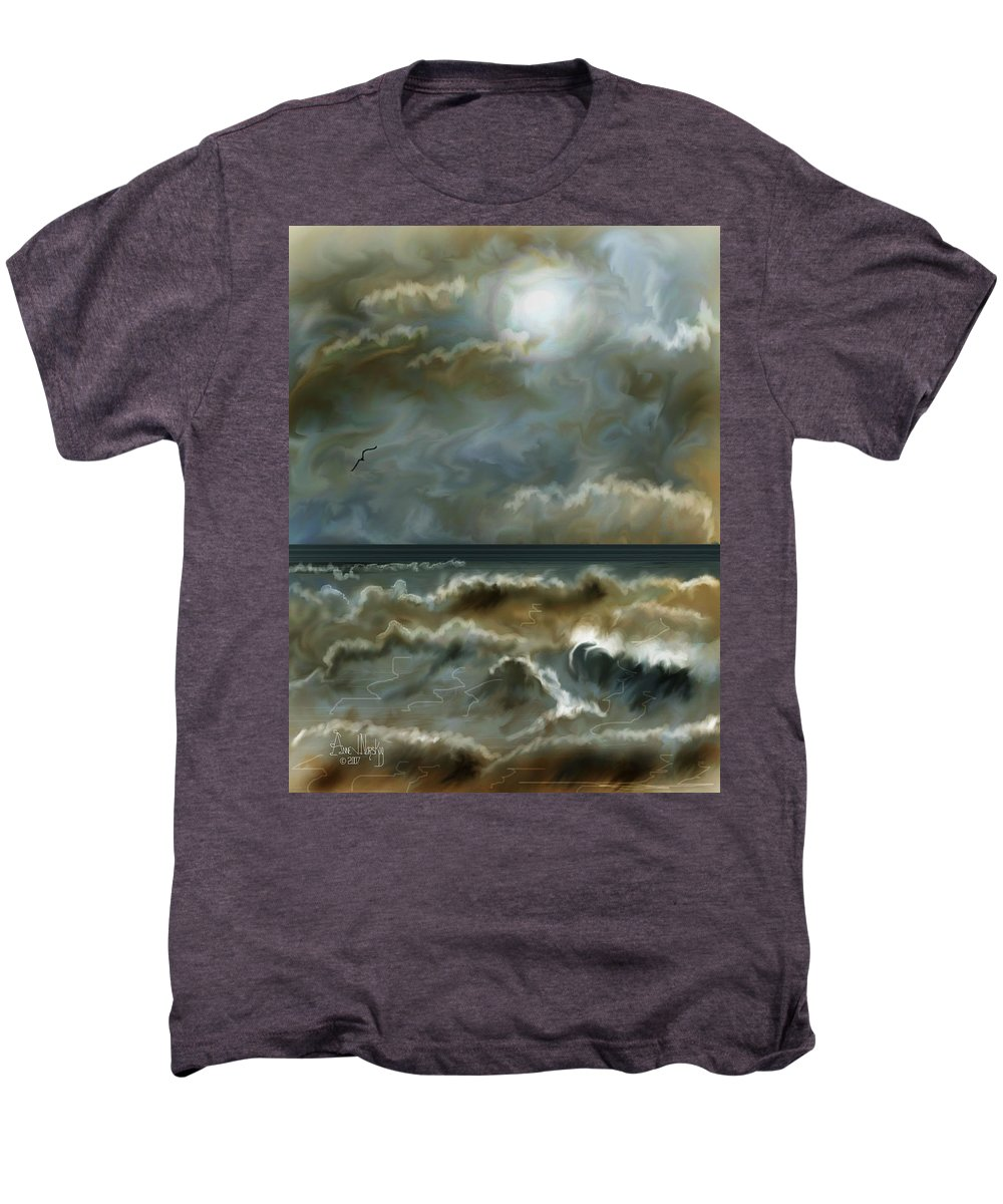 Seascape Men's Premium T-Shirt featuring the painting After The Squall by Anne Norskog