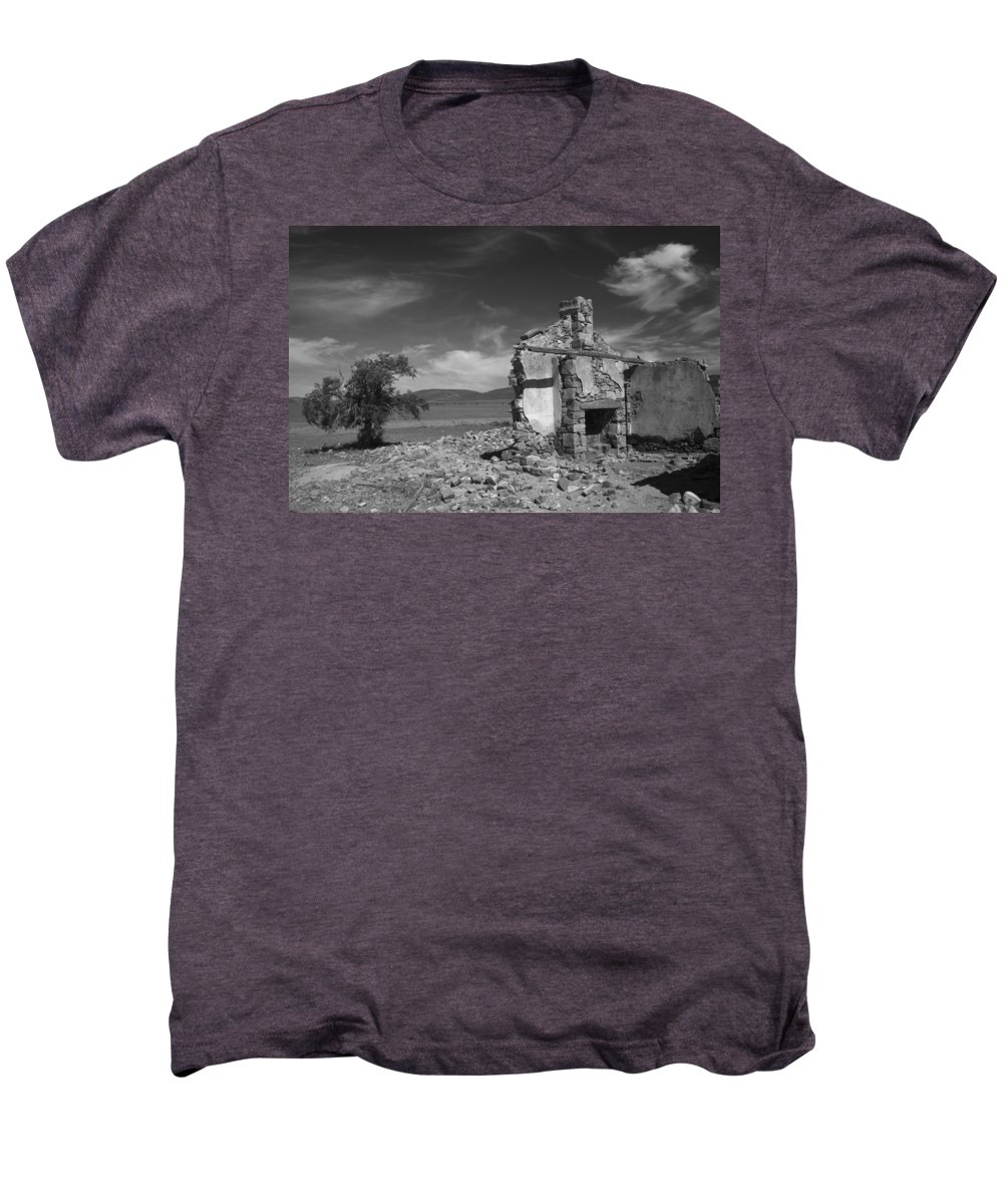 Cottage Men's Premium T-Shirt featuring the photograph Farmhouse Cottage Ruin Flinders Ranges South Australia by Ralph A Ledergerber-Photography