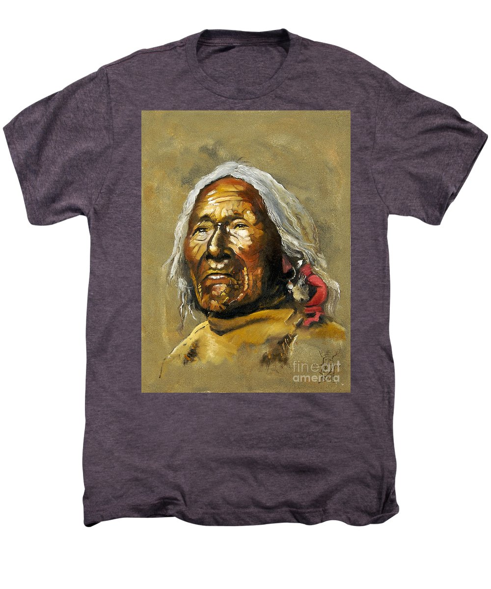 Southwest Art Men's Premium T-Shirt featuring the painting Painted Sands Of Time by J W Baker